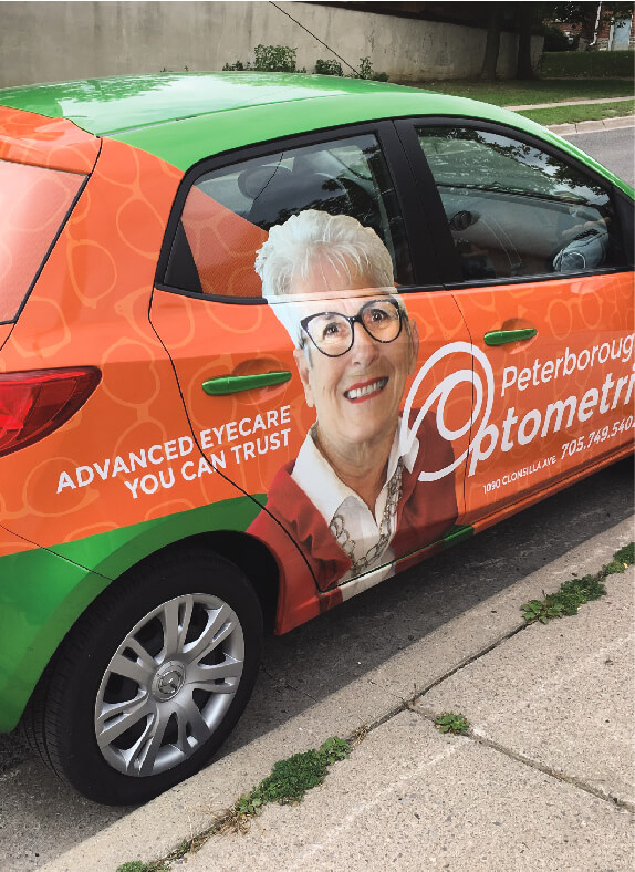 Peterborough Optometric Vehicle Wrap