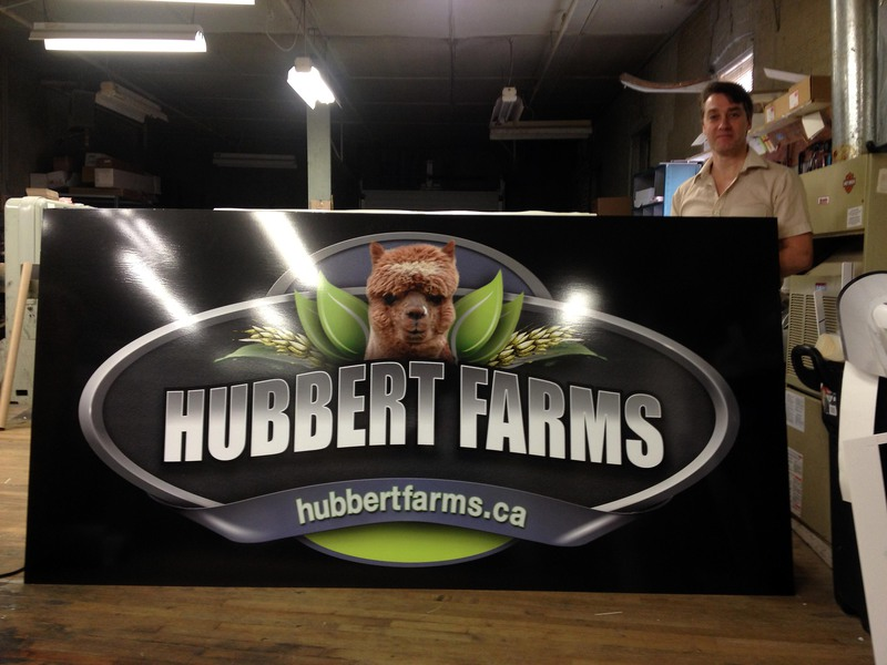 Hubbert Farms Sign