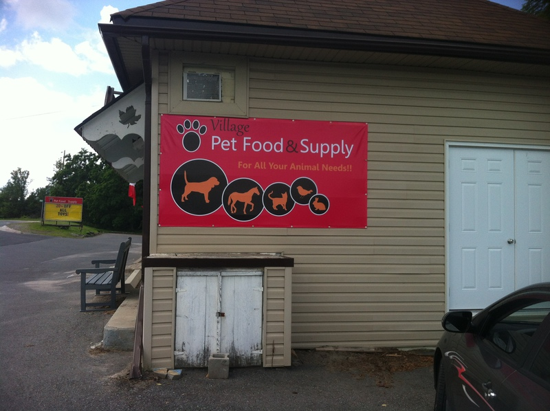 Pet Food Supply Sign