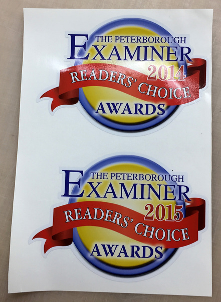 Peterborough Examiner Reader's Choice Label
